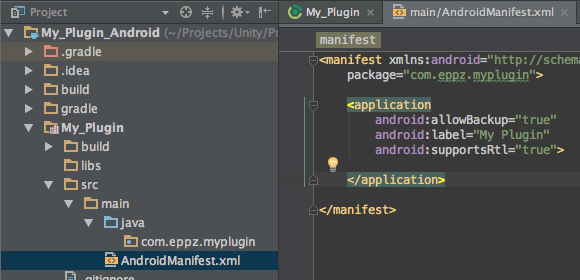 Unity Android plugin tutorial (2/3) Project setup and