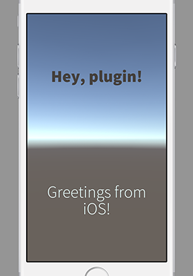 Unity iOS Plugin Hello World 400px