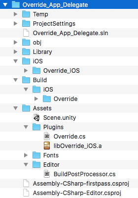 Unity iOS Plugin Workflow Folder Structure