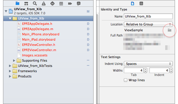 You can easily remap a group's file system reference in the File System Inspector utility panel on the right.